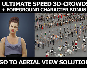 3d people crowds and a foreground Yearn event sitting