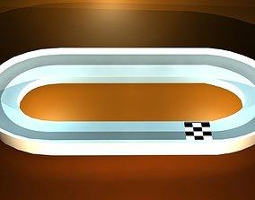 Mini game Race track 3D asset