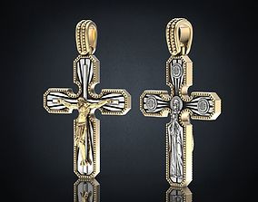 Cross pendant with a crucifix 3D printable model