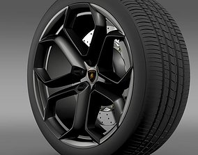 3D model Lamborghini Aventador wheel