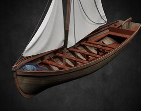 Pirate Boat 3D model low-poly