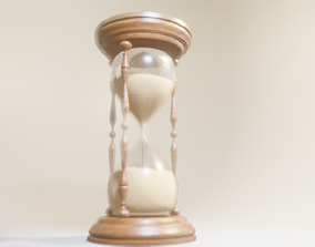 3D model Hourglass sandglass