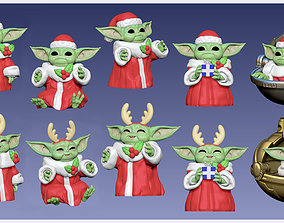 Baby Yoda - GROGU - Christmas Edition - 3D print model 2