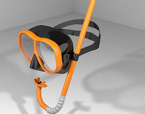 Scuba Diver Mask Type 3 3D model