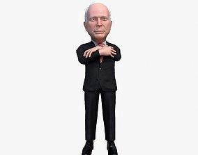 animated John McCain 3D caricature