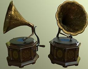 Gramophone - PBR materials 3D asset