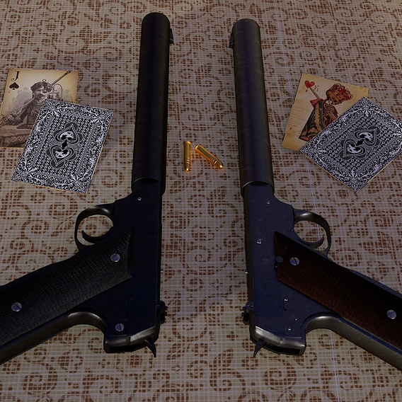 High Standard HDM Pistol - WWII