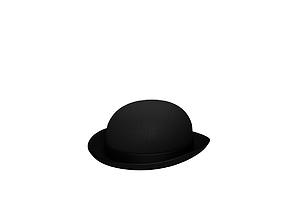3D model realtime Bowler Hat
