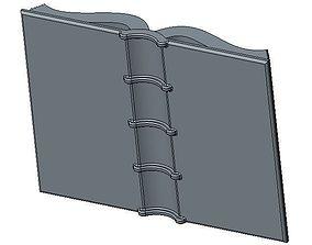 3D print model Ancient Open Book