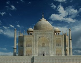 Taj Mahal Low Poly 6093 Polygons Full Model