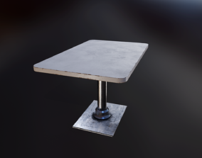 3D model Retro cafe table