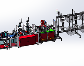 3D model Fully automatic N95 mask machine