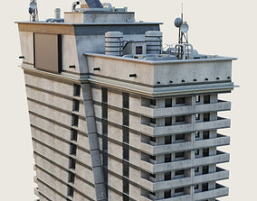 3D model Building Skyscraper City Town Downtown Office 2