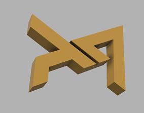 AD Logo Paper Weight 3D print model