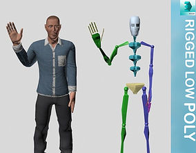 3D asset Character Rigged