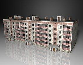 Five-story building 3D model