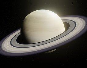 VR / AR ready Photorealistic Saturn 8k Textures 3D Model