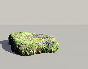 Mossy Ocean Rock 3D Scanned Model