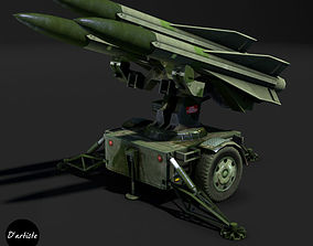 Hawk Launcher MIM-23 3D model