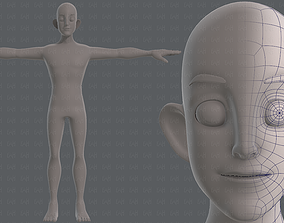 3D asset Base mesh man character V11