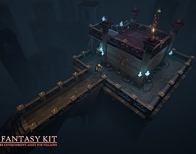 3D model low-poly Dark Fantasy Kit