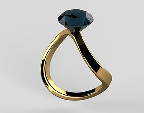 3D print model Diamond Ring jewelry art