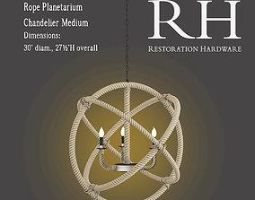 Restoration Hardware Rope Planetarium Chandelier 3D model