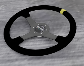 Racing steering wheel safety 3D model rigged
