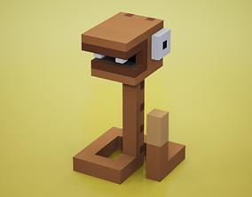 Voxel - Rattle Snake 3D asset