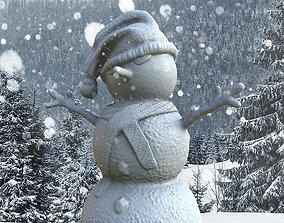 Snowman snowball 3D print model