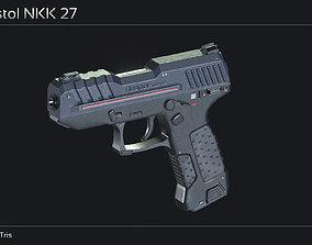 3D asset Scifi Pistol NKK 27