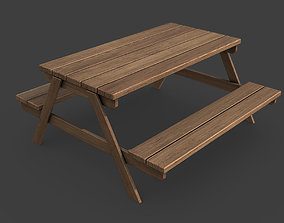 3D model low-poly Picnic Table