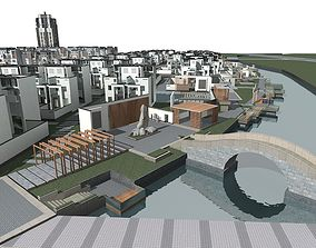 Villa city-block 3D