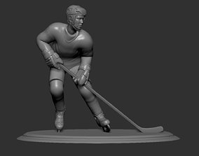 Hockey Player Collectible Figure Statue 3D print Pose 03