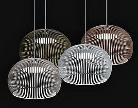 Suspension Luminaire Bois 3D model