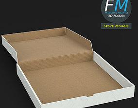 Open pizza box 3D