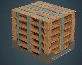3D asset Pallet Rack 1A