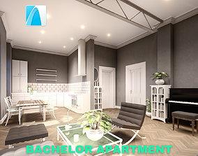 Bachelor Studio Apartment Scene - Archicad 3D asset