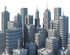 3D asset game-ready City buildings