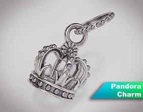 3D Crown Pandora Charm