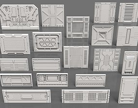 3D Sci-Fi Panels - 20 pieces - Collection - 1