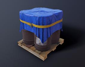 3D asset Barrels metal