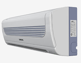 white Samsung household air conditioning system 3D