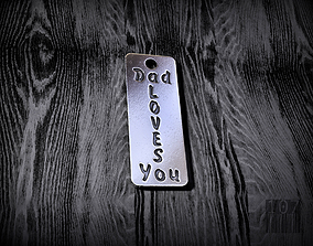 3D printable model pendant dad loves you