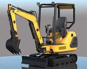 Compact Excavator VRay PBR 3D model
