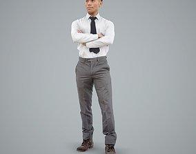 3D Standing Cross-Arm Business Man BMan0101-HD2-O01P01-S