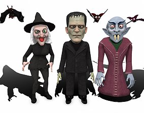 Halloween characters pack rigged animated 3D animated