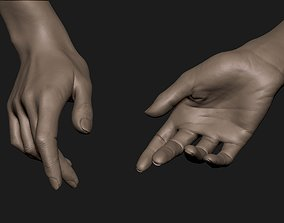 Realistic Female Hand Sculpt 2 3D