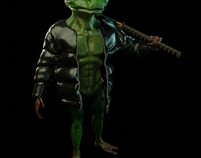 3D model Yakuza Frog Low-poly PBR Rigging