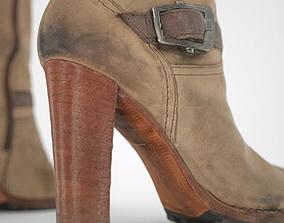 Kneehigh Boot with Zipper 3D asset
